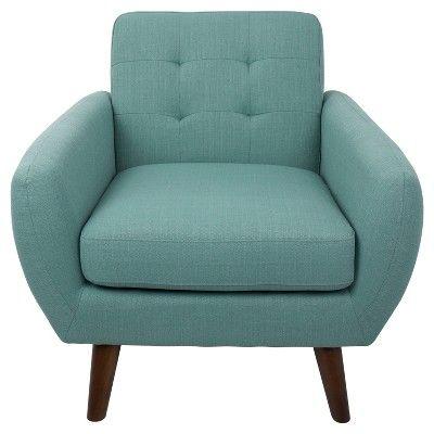 Hem-gway Mid - Century Modern Accent Chair - Teal (Blue) - Lumisource