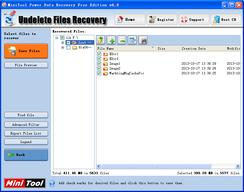 You can download free data recovery software to recover