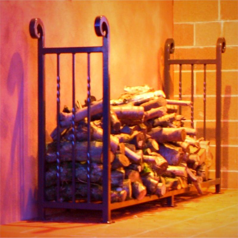 iron wood rack