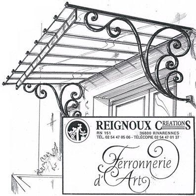 Marquise fer forgé simple pan MA82   Reignoux créations   desing ...