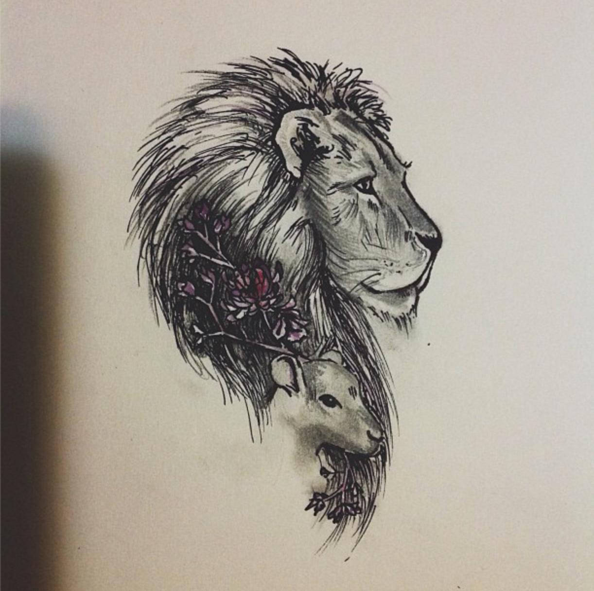 Lion Lamb Lamb Tattoo Simple Lion Tattoo Small Lion Tattoo