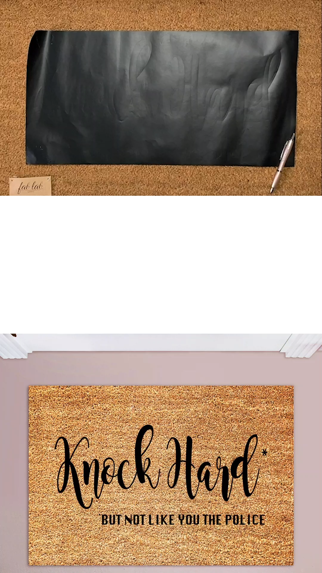 How To Make A Custom Welcome Mat Using Your Cricut