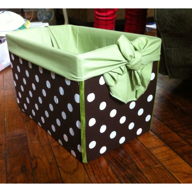Fabric Covered Diaper Box Clever Organization Crafts Diy Diy