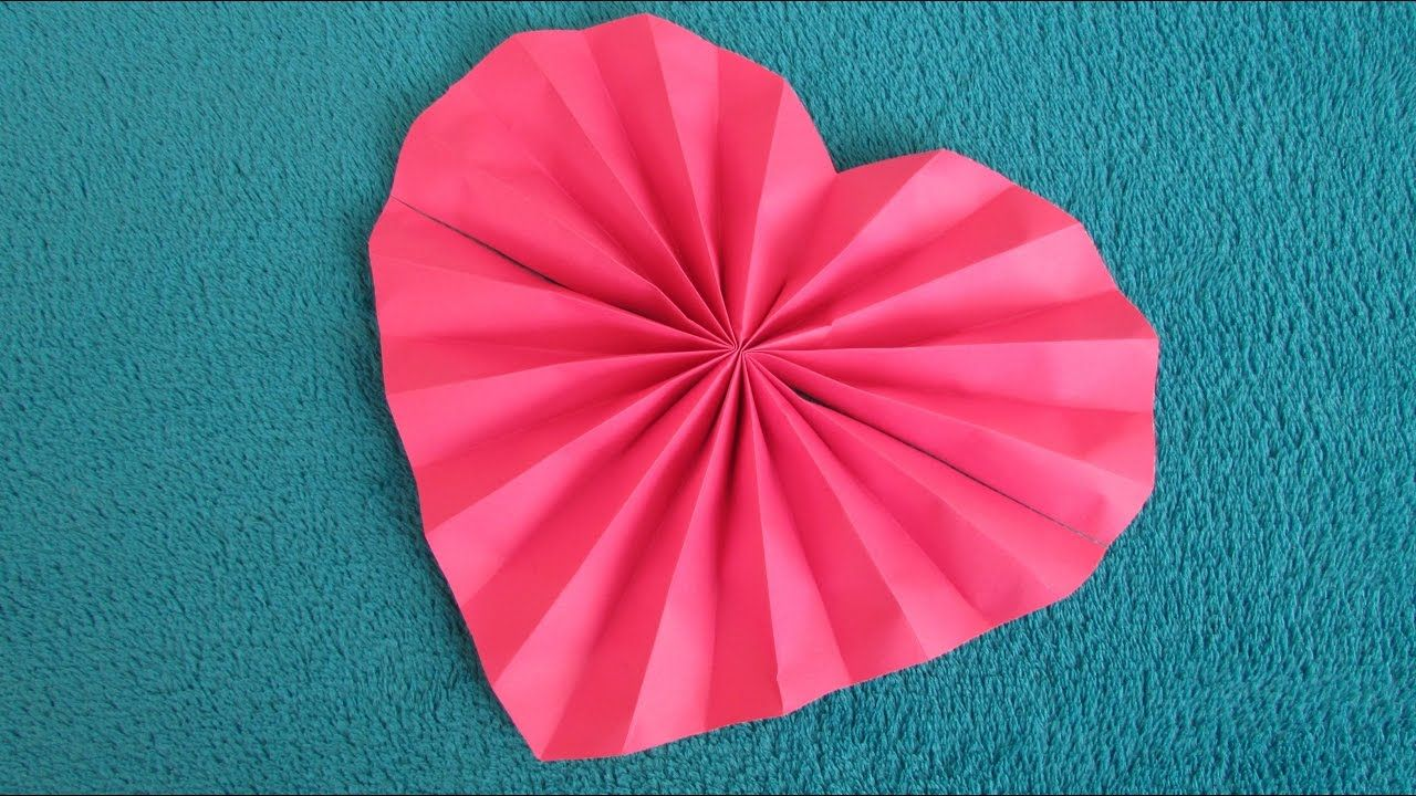 Origami Facile Cœur En Eventail Origami Facile Pliage Serviette Papier Fleur Origami Facile Coeur