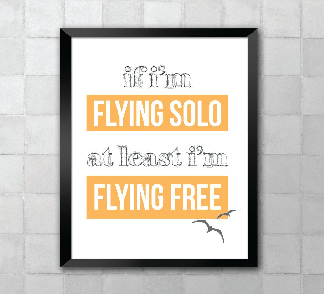 Wicked Flying Free Song Lyric Quote 8x10 11x14 Typography Wall Art ...