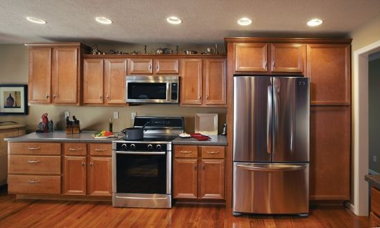 The Vanderburgh Vintage Maple adds a touch of class to any kitchen ...