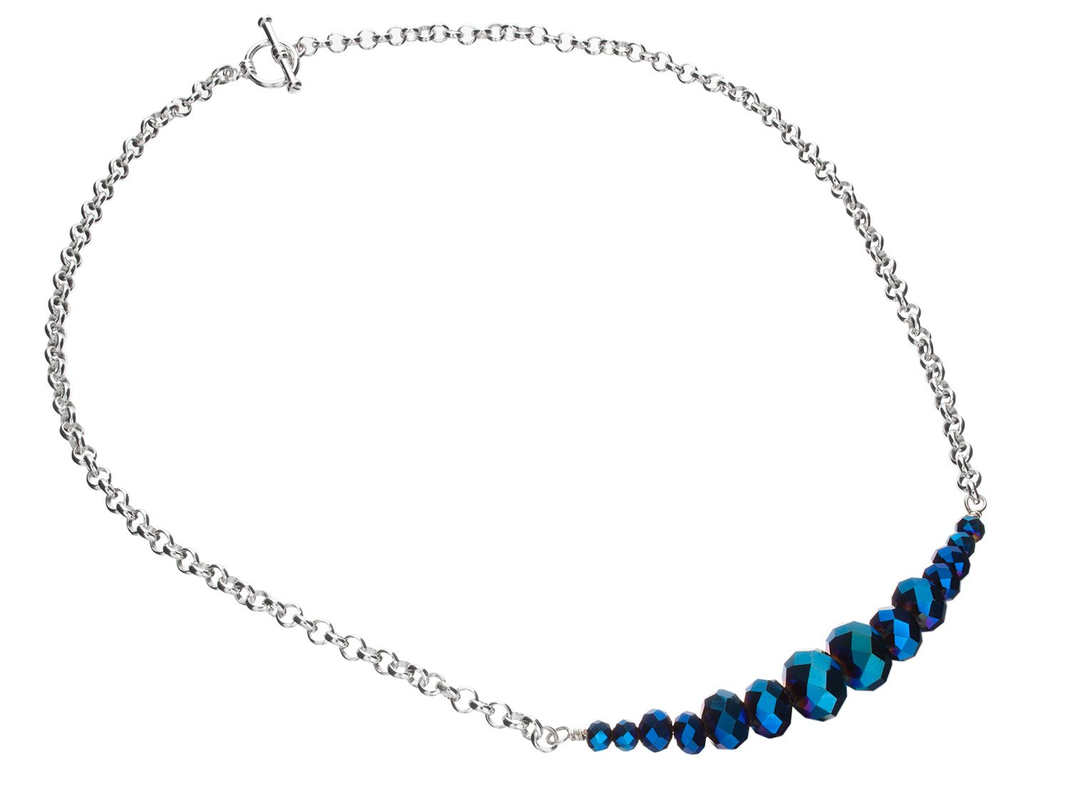 Electric Blue Necklace Oooo I See Diy In My Future