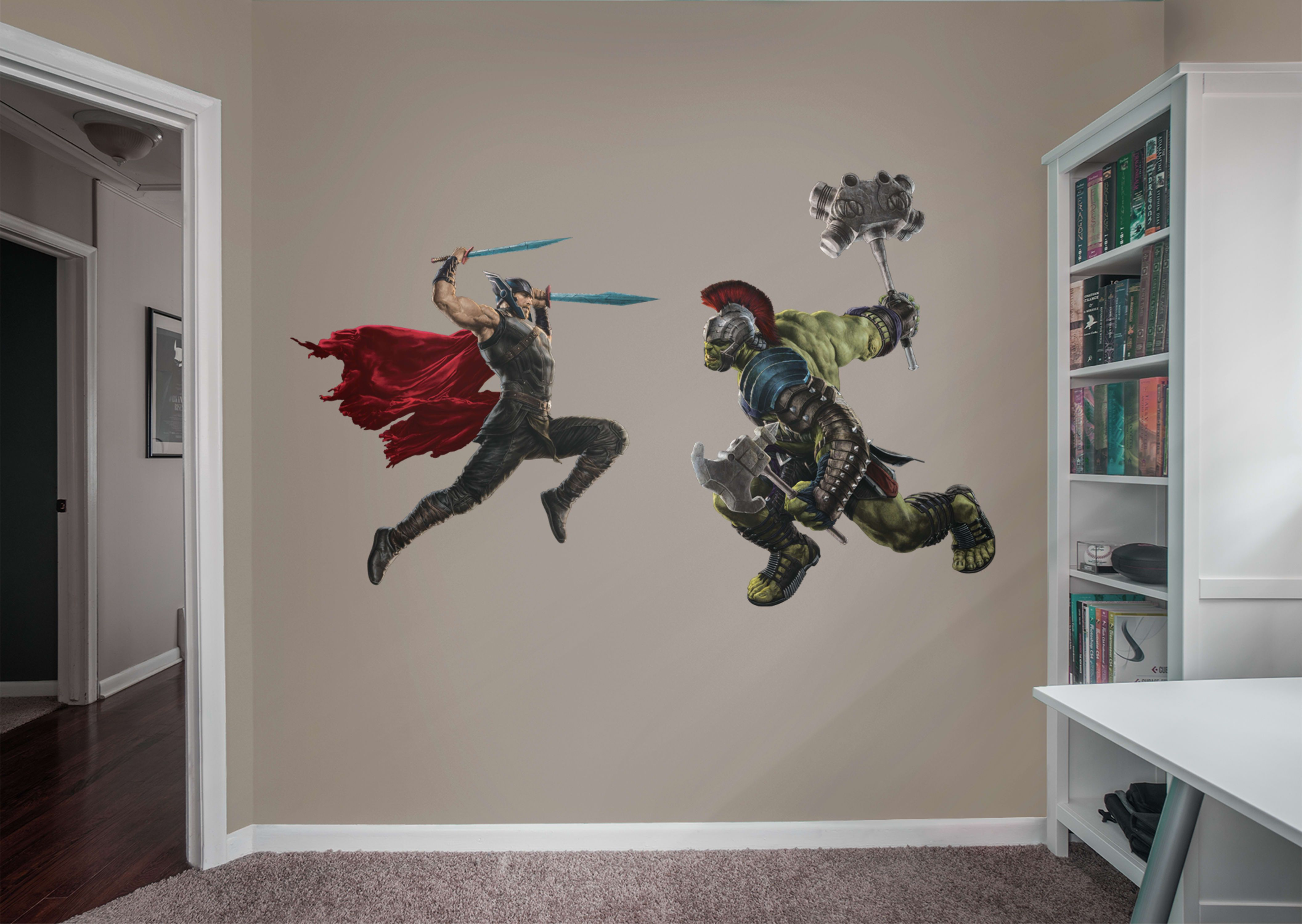 Thor Ragnarok Battle Fathead Wall Decal Marvel Bedroom Avengers Funny Thor