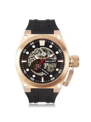 59% OFF Ballast Men's BL-3105-02 Valiant Black/Rose Stainless Steel Watch