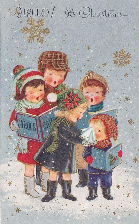 vintage christmas card weihnachtsbilder. Black Bedroom Furniture Sets. Home Design Ideas