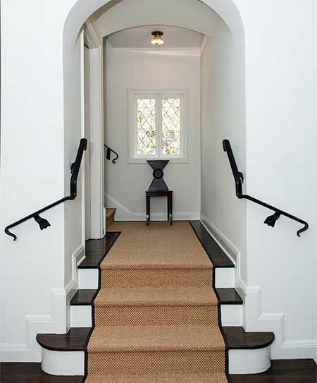 Sisal Stair Runner Black Iron Rails House Styles Stairs
