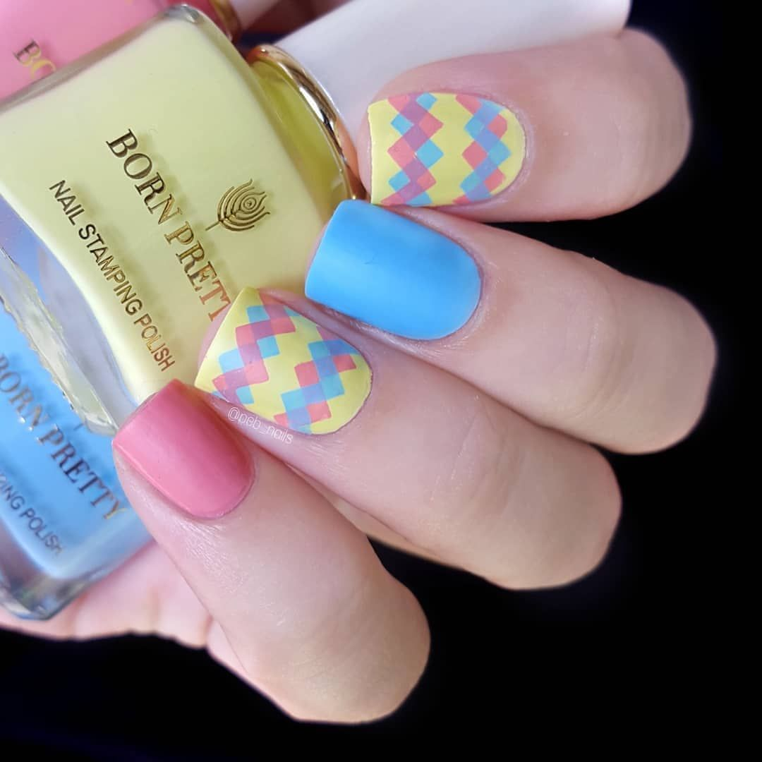 Beautiful Design Nails Macaron Series Colors Manicured By