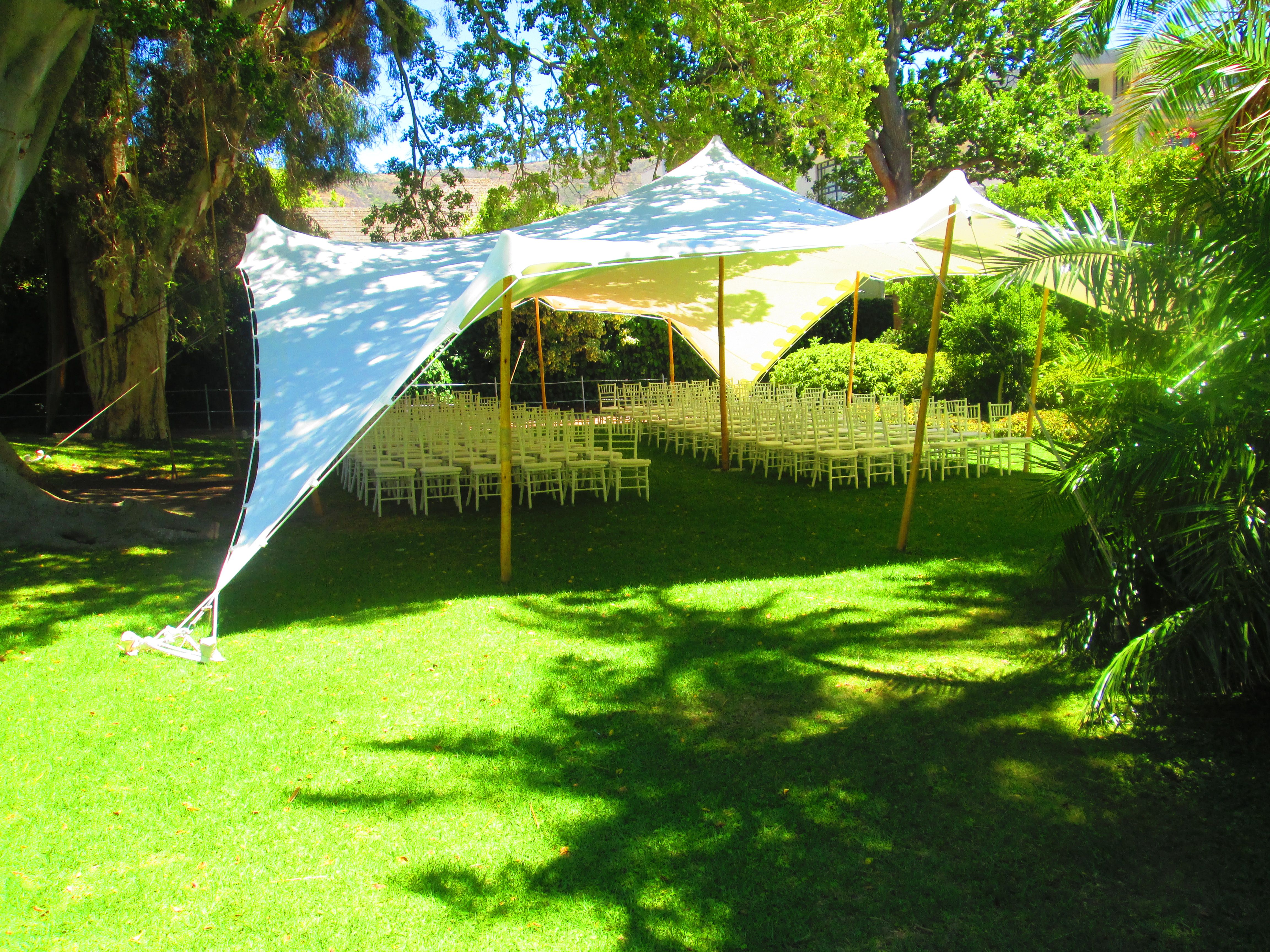10m x15m white stretch tent used for wedding reception ...