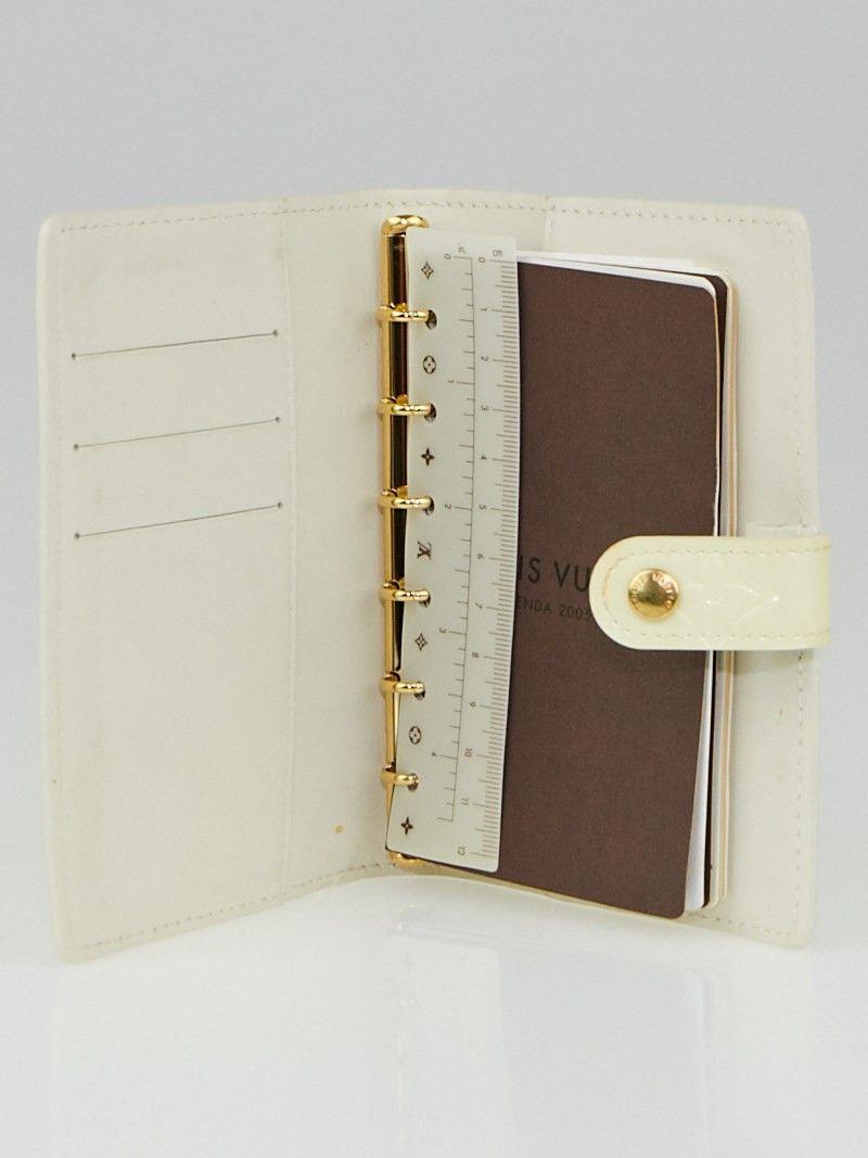5174c0f4ae5a Louis Vuitton Perle Monogram Vernis Small Agenda Notebook - Designers -  10039678