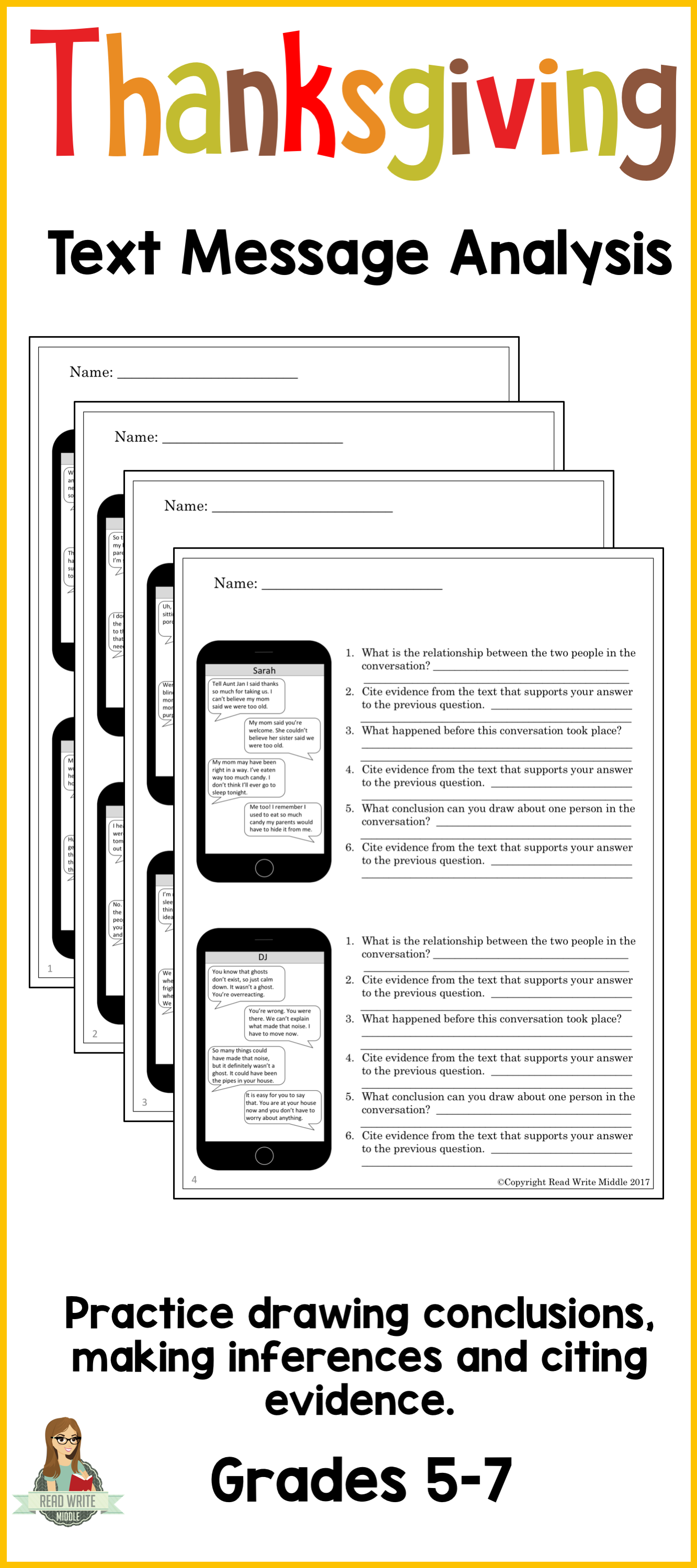 Activities For Teaching Inference Middle School