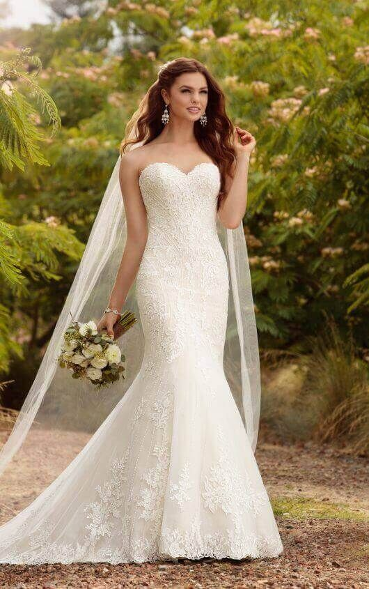 9491ce166f1 D2209+ Plus Size Beaded Curve-Hugging Trumpet Wedding Dress by Essense of  Australia
