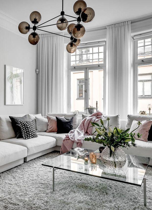 L mpara de techo para la zona del sof decoracion for Curso de decoracion de interiores zona norte