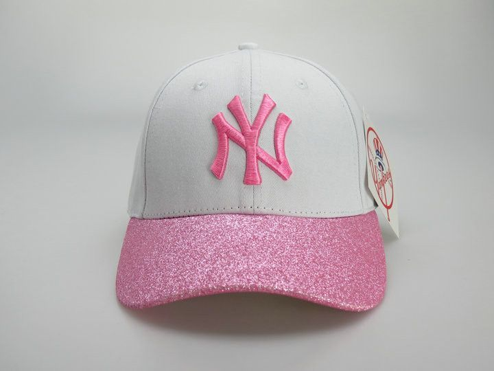 New York Yankees New Era White Pink Shimmer Shine 9FORTY Adjustable ... 232ac252bf91
