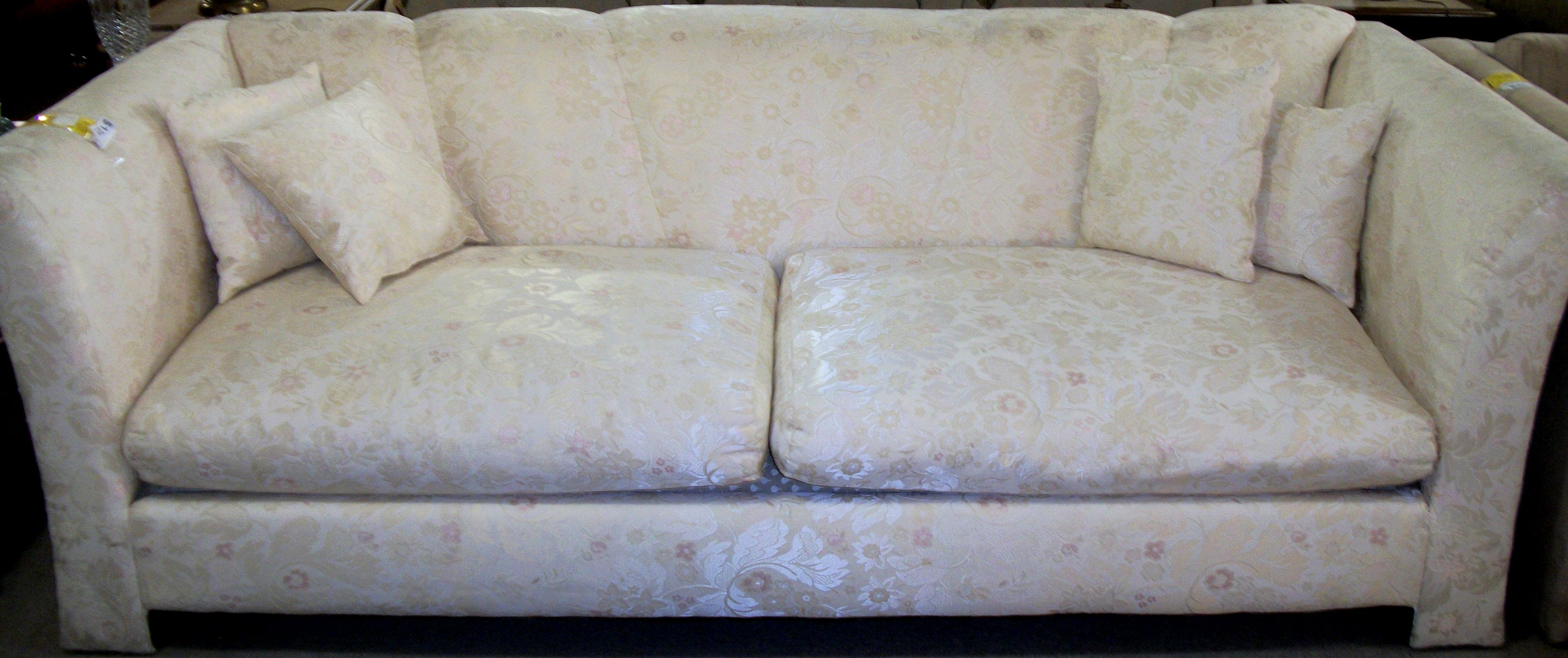 Amazing 2 Cushion White With Satin Paisley Couch With 4 Pillows Uwap Interior Chair Design Uwaporg