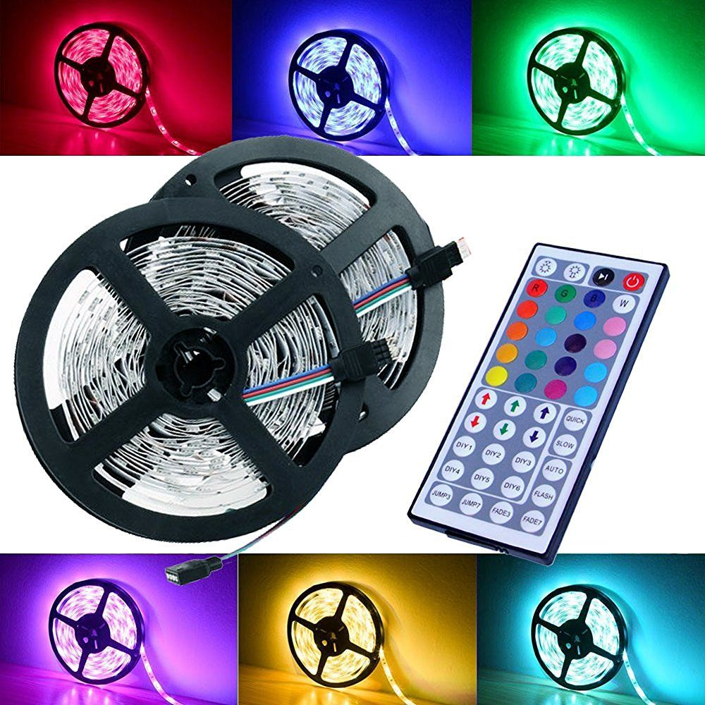Magic beam led strip lighting full kit 10 meter 328 ft 5050 rgb magic beam led strip lighting full kit ft 5050 rgb 300 leds flexible color changing led light strips with power supply ir remote controller quickly view aloadofball Image collections