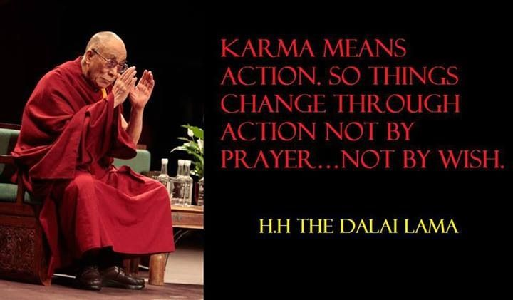 Karma Dalai Lama Quote Paz Dalai Lama Buddhism Quotes