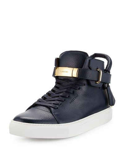 Sale Deals Leather 100MM RABBIT High Top Sneakers Fall/winter Buscemi Really Cheap Shoes Online Esqtk7P