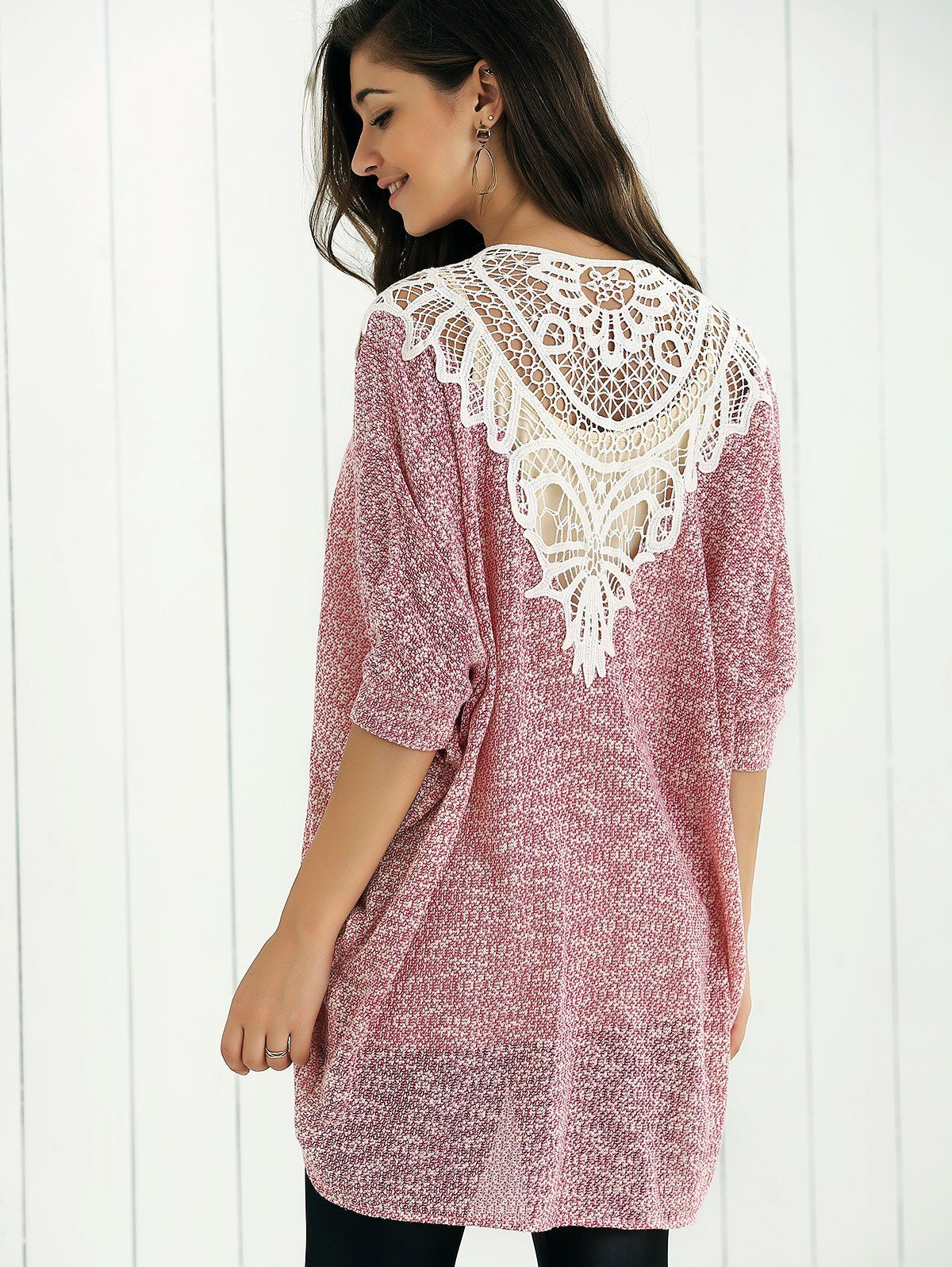 Lace Patchwork Open Front Cardigan | SWEATERS & CARDIGANS ...