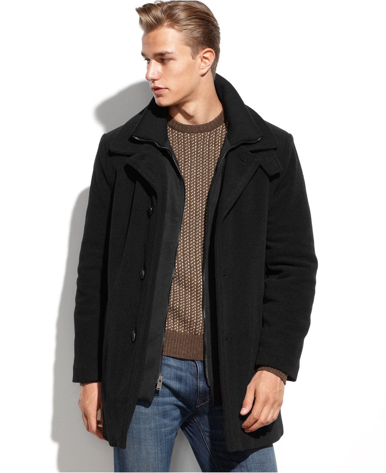 Calvin Klein Coleman Wool Blend Overcoat Reviews Coats Jackets Men Macy S Mens Street Style Mens Dressing Styles Casual Designer Clothes For Men [ 1616 x 1320 Pixel ]