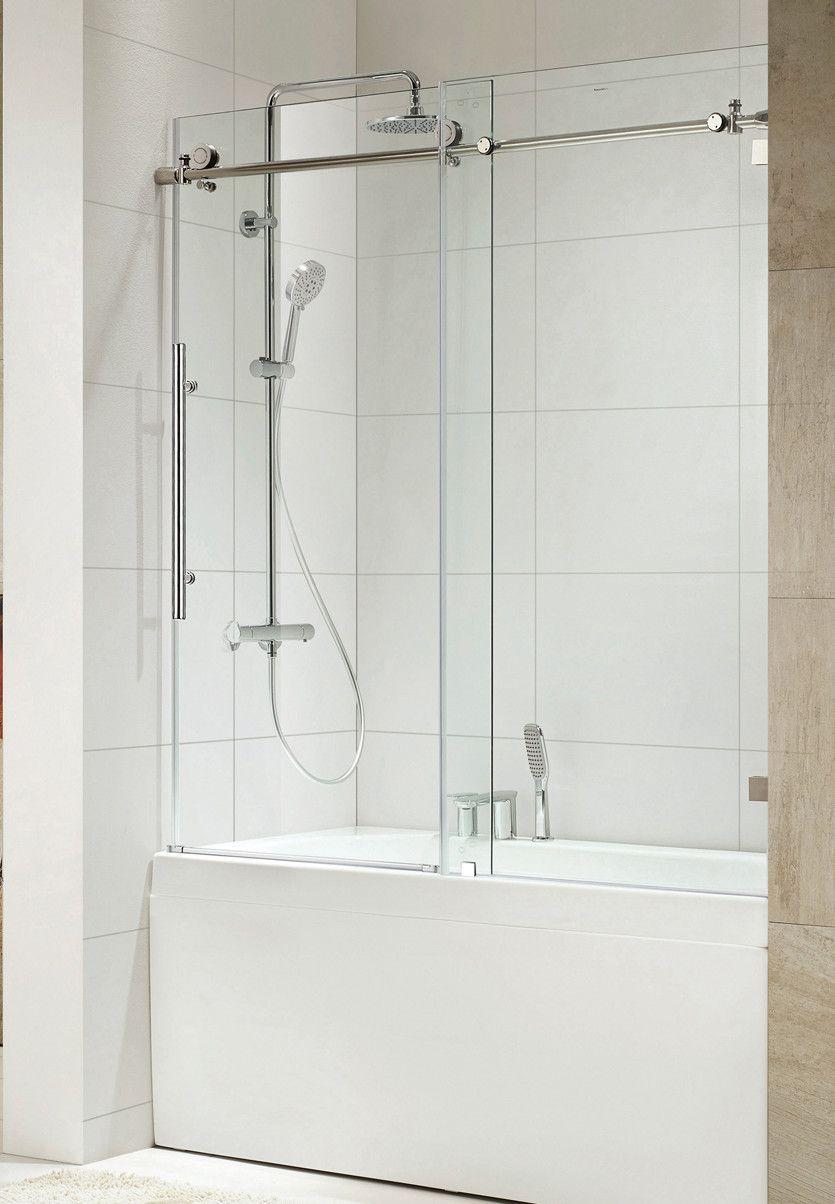 Trident 60 X 62 Single Sliding Frameless Shower Door Bathrooms