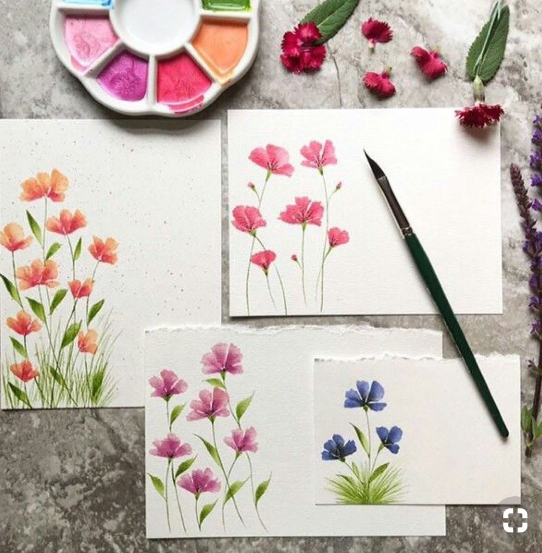 Simple Floral Ideas Watercolour Watercolor Cards Flower