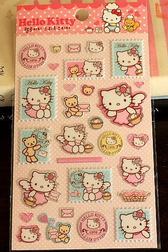 """This is super cute sticker set.- Material: embossed pvc- approx. 9.5cm x 17.5cm (3.7"""" x 6.8"""")- Made …"""