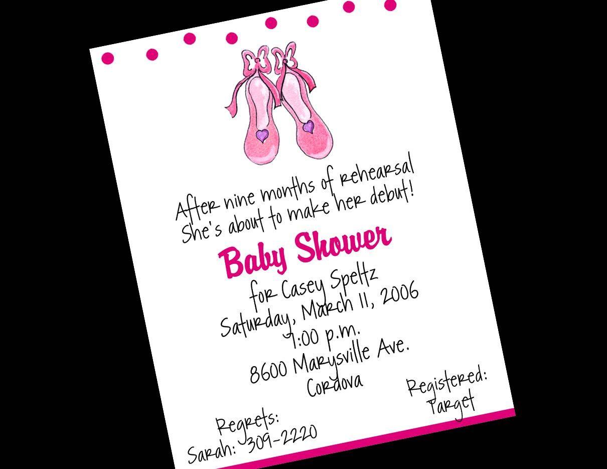 10 Ballet Ballerina Baby Shower Invitations OR Printable DIY U-Print ...