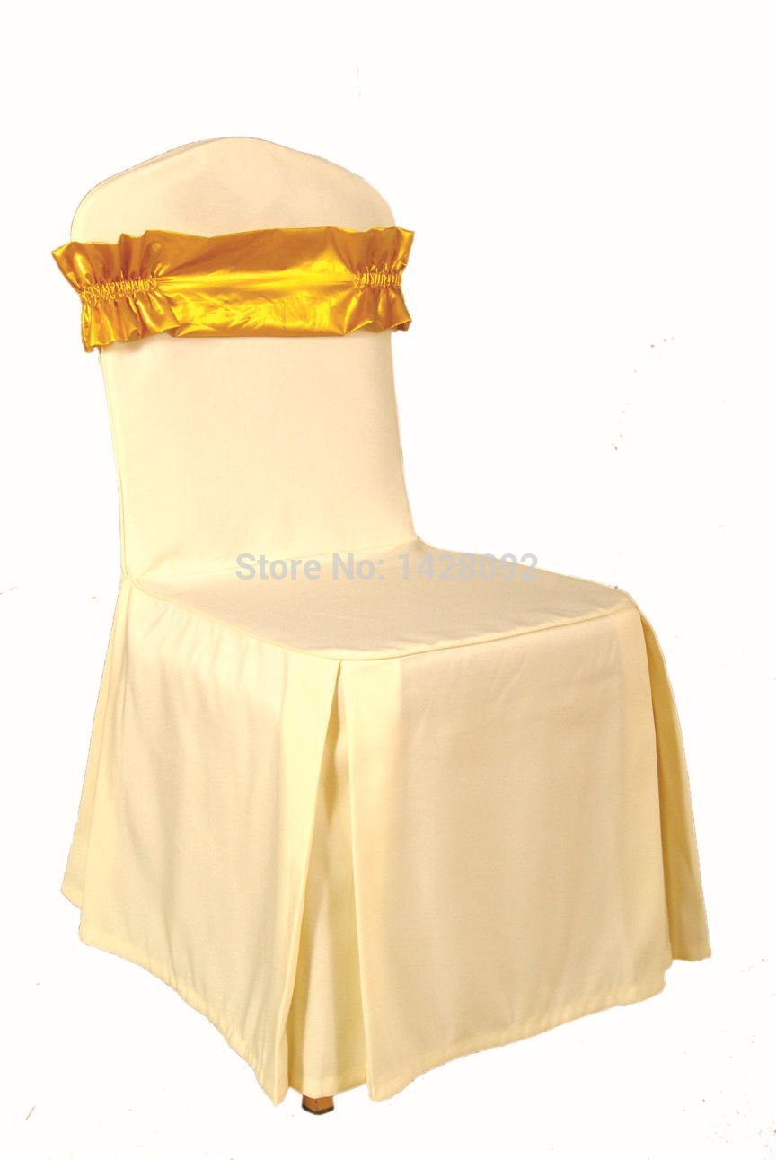 custom banquet chair covers ikea barrel made moq 30pcs cover wedding with gold bowknot band