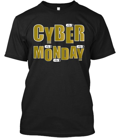 Cyber Monday Black T-Shirt Front
