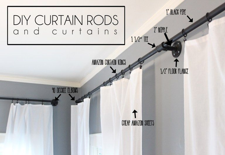 Diy Industrial Curtain Rods Extra Long Diy Curtains In 2020