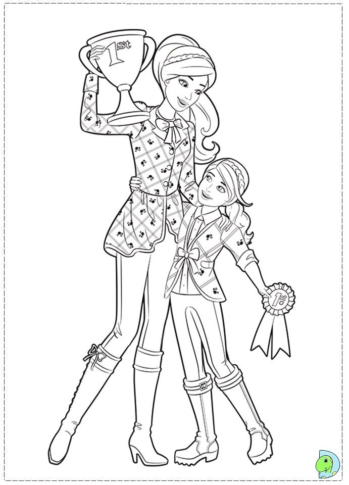 Barbie Coloring Page.69 | Barbie World ~ Coloring Pages ...