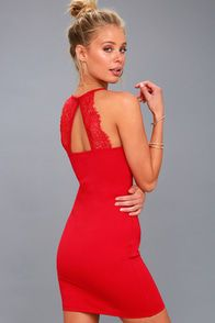 7a1309107d4a Spoonful of Sass Red Bodycon Mini Dress