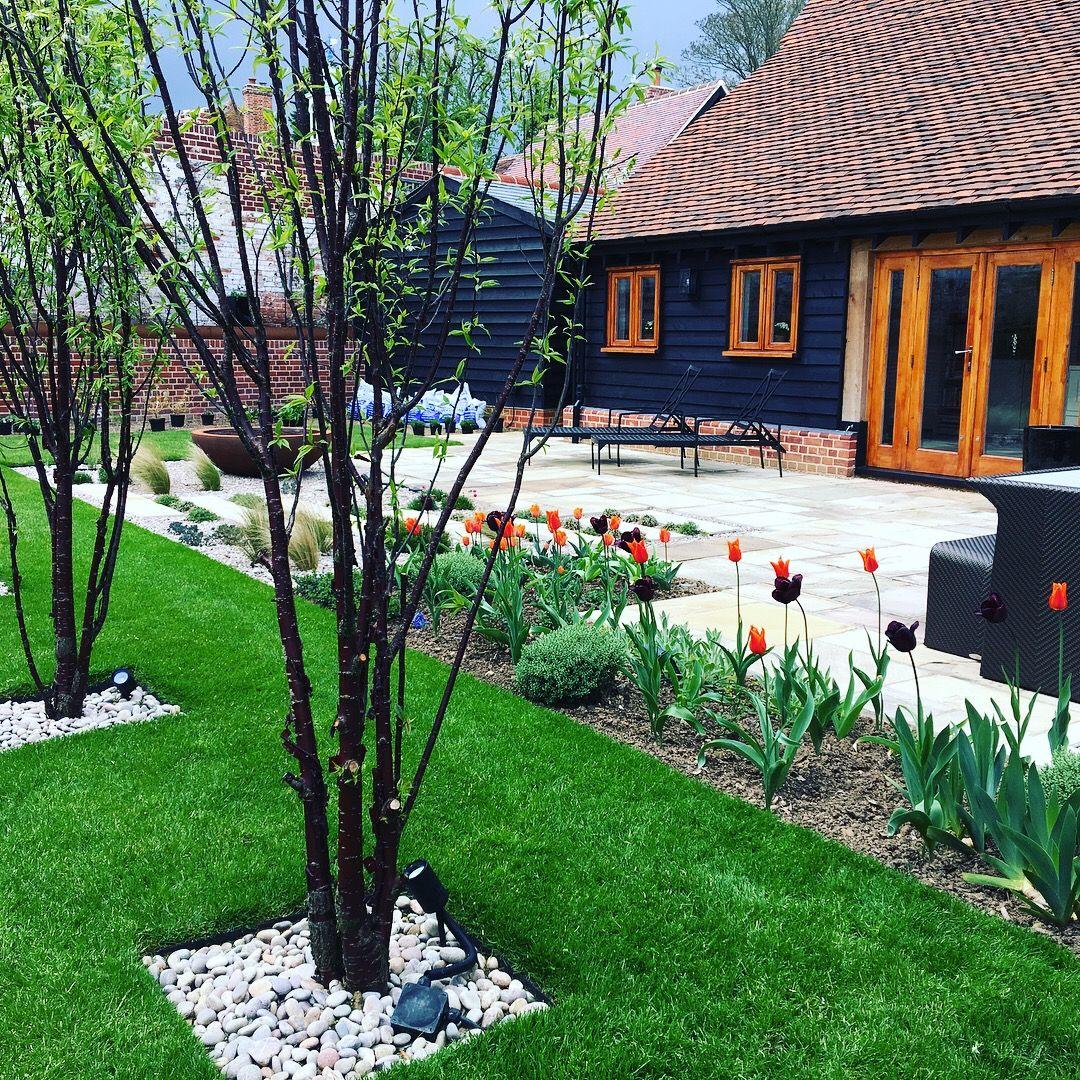 Barn Conversion Garden Design in Much Hadham ...