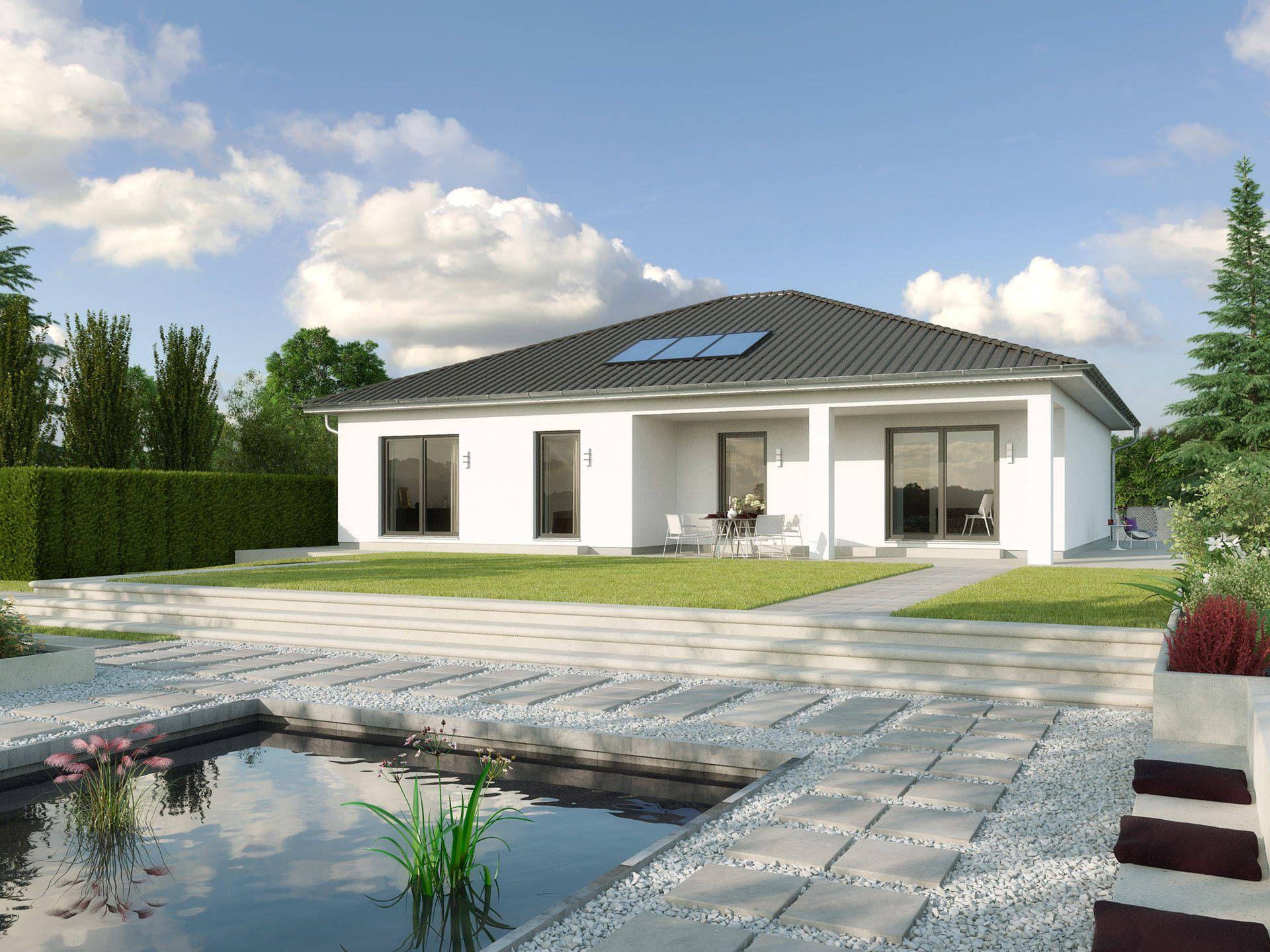 larochelle wl 40 bungalow von gussek haus elegantes einfamilienhaus mit walmdach und. Black Bedroom Furniture Sets. Home Design Ideas