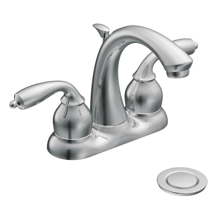Moen CA84292 Bayhill Centerset Watersense Bathroom Sink Faucet ...