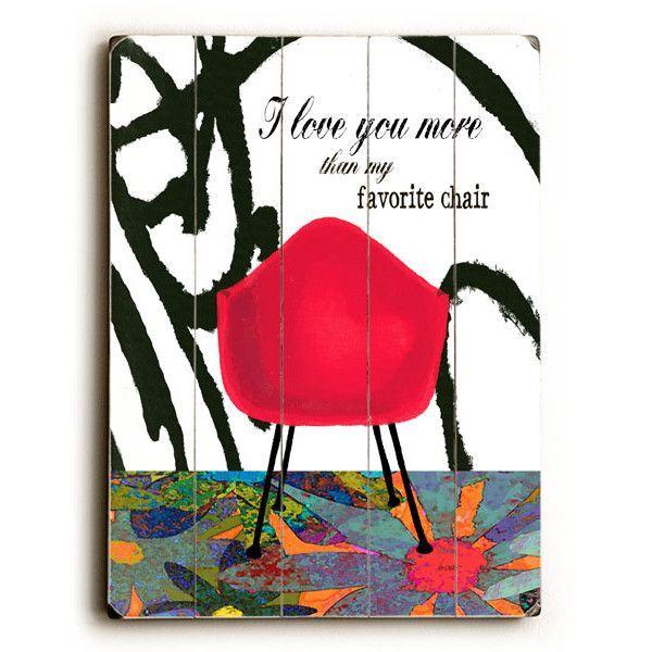 Favorite Chair by Artist Lisa Weedn Wood Sign