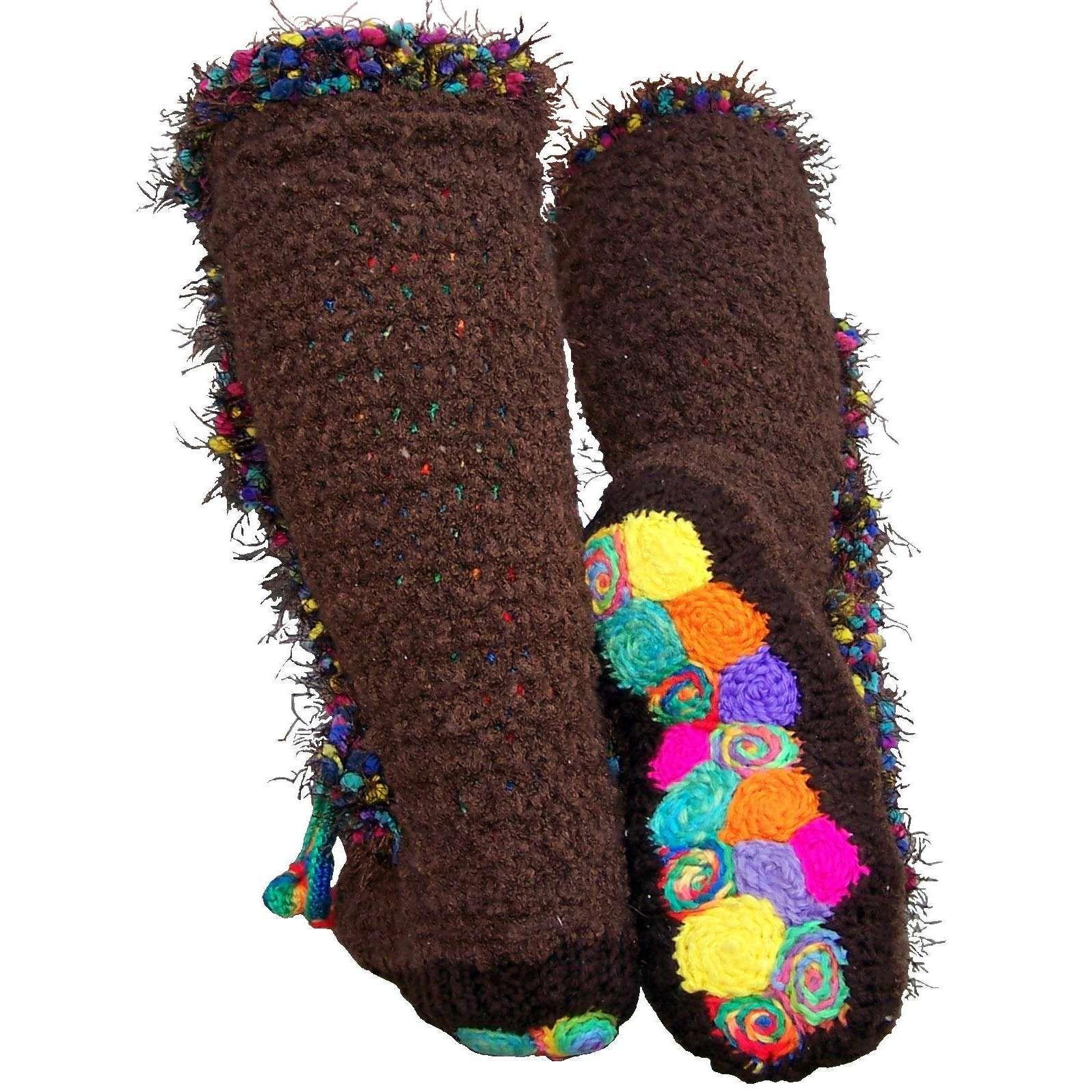 Free Crochet Mukluk Pattern | Ravelry: Folksy Slipper Socks: Crochet ...