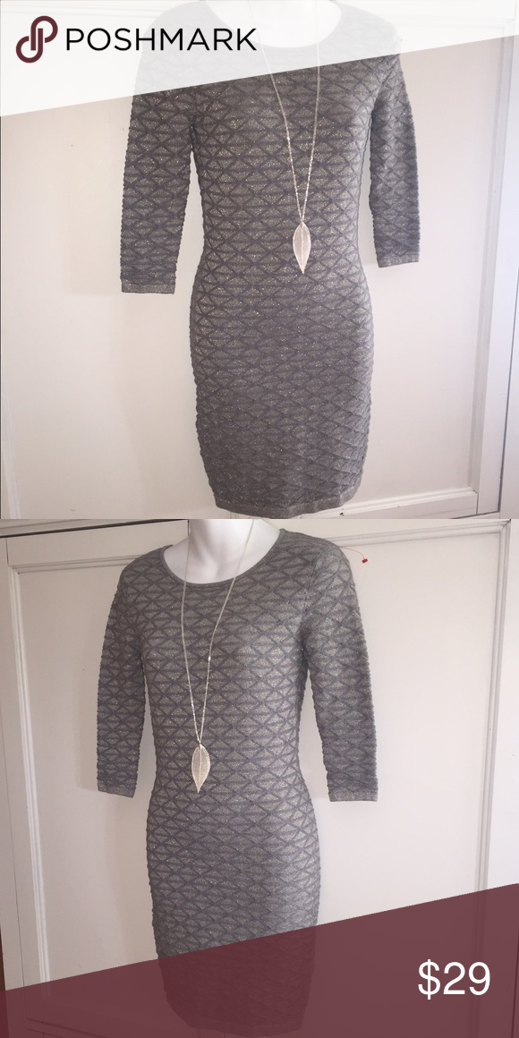 MODA INTERNATIONAL Victoria's Secret DRESS X-Small Super Chic Dress!! Silver and perfect for the Holidays! Size XS. Necklace not included. Moda International Dresses