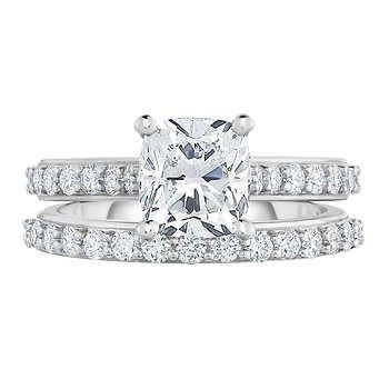 cushion cut 2 22 ctw vvs1 clarity g color diamond platinum wedding