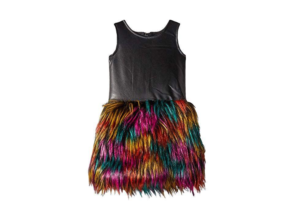 2d7dcddf84c1 Appaman Kids Faux Leather Multicolored Faux Fur Eve Dress (Toddler ...