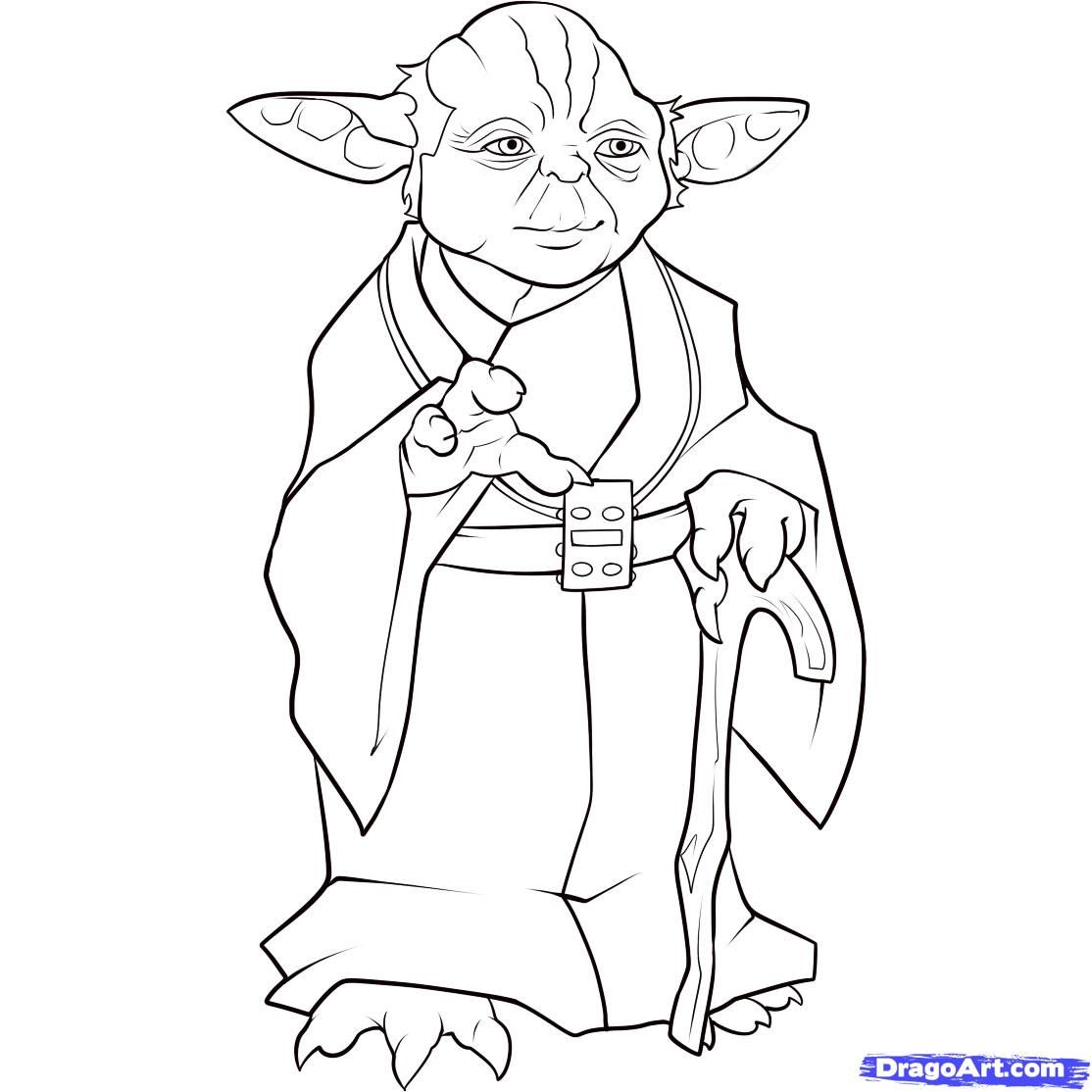 yoda coloring page - Yoda Coloring Pages