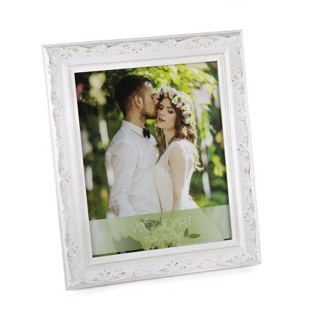 Wooden Picture Frame White With Flowers 4X6 inch Inches | Products