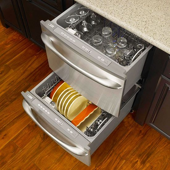 Kitchens With Pro Style Amenities Drawer Dishwasher Space