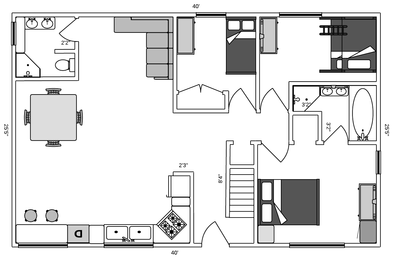 Open Floor Plans  Customizable Template In Lucidchart  Templates