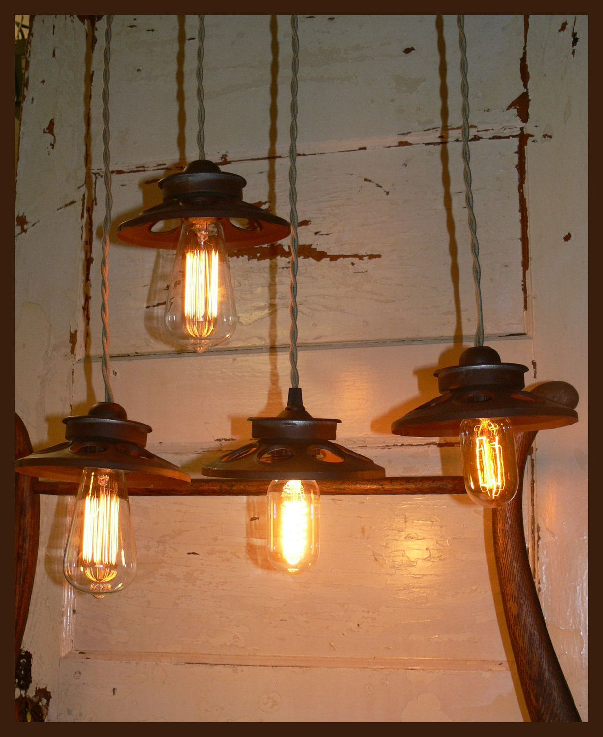 25 Best Rustic Lighting Ideas From Etsy To Buy In 2019: Chicken Feeder Hanging Light